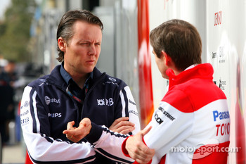 Sam Michael, WilliamsF1 Team, Technical director and Pascal Vasselon, Toyota Racing, Senior General Manager Chassis