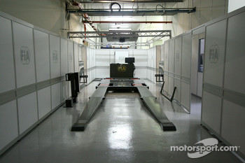 FIA scrutineering area