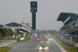 Start of the pace lap