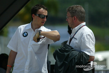 Robert Kubica with Ross Brawn