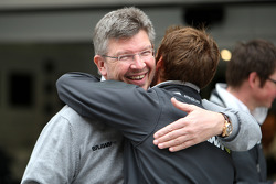 Ross Brawn Brawn GP Team Principal, Jenson Button, Brawn GP