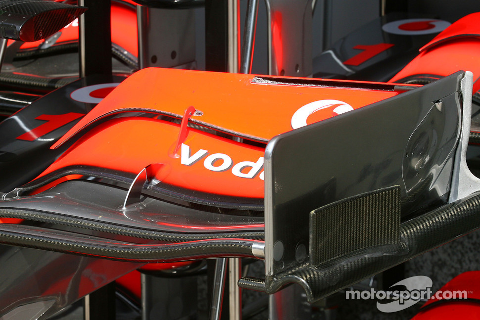 Front wing, detail, McLaren Mercedes