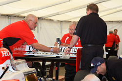 IndyCar Series officials at work