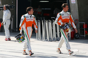 Giancarlo Fisichella, Force India F1 Team and Adrian Sutil, Force India F1 Team