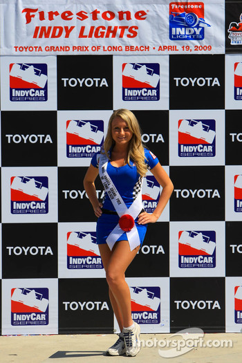 Podium: a lovely Miss Grand Prix of Long Beach