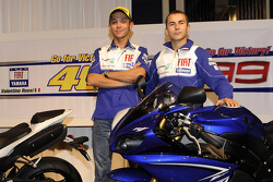 Yamaha R1 launch in Tokyo: Valentino Rossi, Fiat Yamaha Team and Jorge Lorenzo, Fiat Yamaha Team