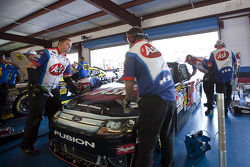 Hall of Fame Racing Ford crew members at work