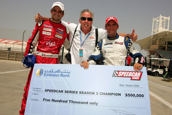 Race winner Vitantonio Liuzzi UP Team and Speedcar Series Champion Gianni Morbidelli Palm Beach