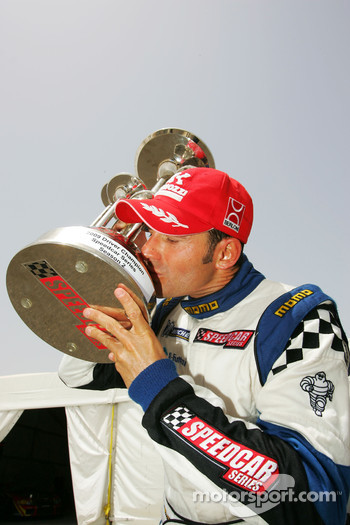 Gianni Morbidelli Palm Beach celebrates his championship success