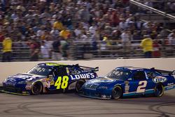 Jimmie Johnson, Hendrick Motorsports Chevrolet, Kurt Busch, Penske Racing Dodge