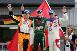 Jeroen Bleekemolen, driver of A1 Team Netherlands, Adam Carroll, driver of A1 Team Ireland, Neel Jani, driver of A1 Team Switzerland