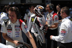 Fourth place Randy De Puniet, LCR Honda MotoGP celebrates