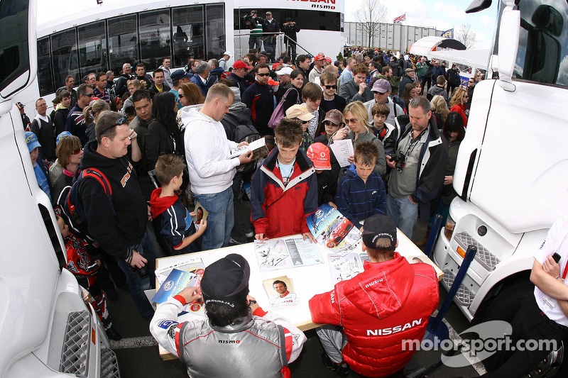 Fans during autograph session