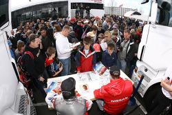 Fans during autograph session