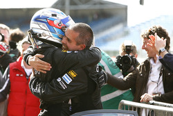 GT2 second place Luis Perez Companc and Matias Russo celebrate