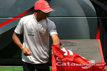Lewis Hamilton, McLaren Mercedes honoured at the Circuit de Catalunya