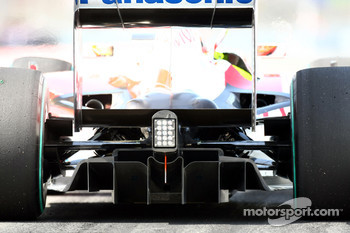 Rear diffuser of the Toyota