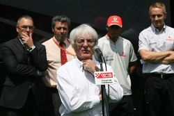 Bernie Ecclestone, Lewis Hamilton, McLaren Mercedes honoured at the Circuit de Catalunya