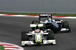 Rubens Barrichello, Brawn GP and Nico Rosberg, Williams F1 Team
