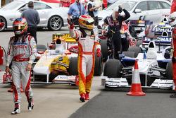 Timo Glock, Toyota F1 Team, Fernando Alonso, Renault F1 Team, Sebastian Vettel, Red Bull Racing