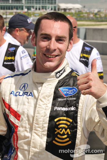 LMP1 and overall pole winner Simon Pagenaud celebrates