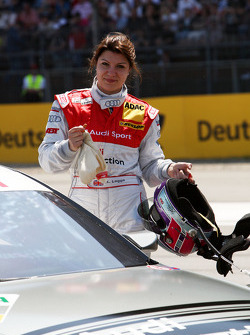 Katherine Legge, Audi Sport Team Abt Audi A4 DTM at the starting grid