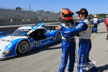 Scott Pruett and Memo Rojas congratulate each other on 2nd place