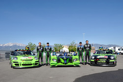 Tequila Patron photo shoot: Ed Brown, Scott Sharp, David Brabham, and Bill Sweedler