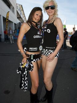 Lovely girls pose