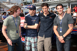 James Blunt singer, Sebastian Vettel, Red Bull Racing, Mark Webber, Red Bull Racing, Jesse Metcalfe Actor