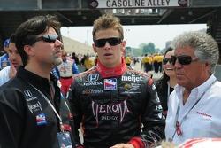 Michael Andretti, Marco Andretti and Mario Andretti