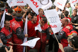 Audi celebrates second place