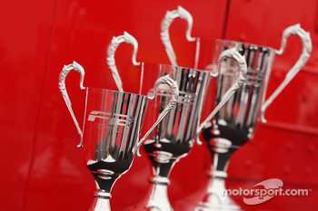 Trophies for round one of the F2 Championship