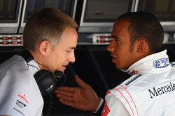 Martin Whitmarsh, McLaren, Chief Executive Officer with Lewis Hamilton, McLaren Mercedes