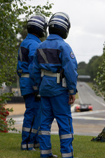 Gendarmes watch practice action