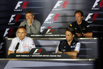 FIA press conference: Martin Whitmarsh, McLaren, Chief Executive Officer, Ross Brawn Brawn Grand Prix Team Principal, Adam Parr, Williams F1 Team, Christian Horner, Red Bull Racing, Sporting Director