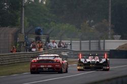 #1 Audi Sport Team Joest Audi R15 TDI: Allan McNish, Rinaldo Capello, Tom Kristensen, #97 BMS Scuderia Italia Ferrari F430 GT: Fabio Babini, Matteo Malucelli, Paolo Ruberti