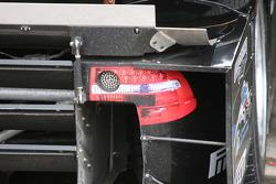 LED brake light inside the fake tail light decal