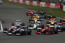 Start of the race, Kazuki Nakajima, Williams F1 Team