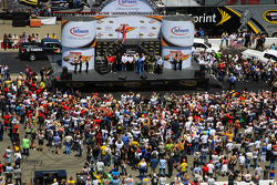 Overall view of pre-race ceremony
