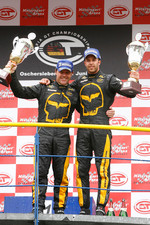 GT1 podium: class and overall winners Mike Hezemans and Anthony Kumpen