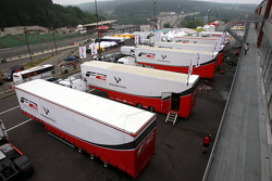 F2 trucks in the paddock