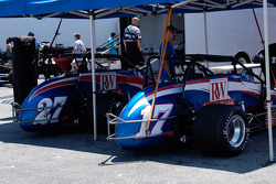 RW Motorsports pair, #17 and #27, driven by Shane Hmiel and Jerry Coons Jr.
