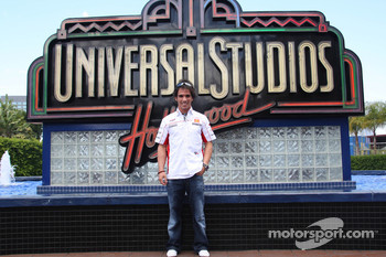 Toni Elias, San Carlo Honda Gresini, visits Universal Studios