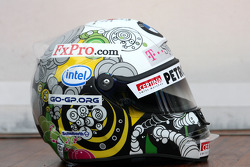 Nick Heidfeld, BMW Sauber F1 Team with a new helmet design