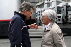 Dr. Mario Theissen, BMW Sauber F1 Team, BMW Motorsport Director, Bernie Ecclestone