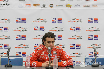 Post-race press conference: race winner Dario Franchitti, Target Chip Ganassi Racing