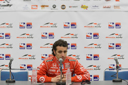 Post-race press conference: race winner Dario Franchitti, Target Chip Ganassi Racing
