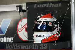 Lee Holdsworth's helmet