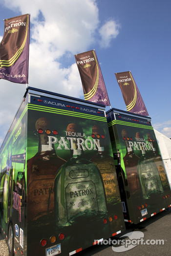 Patron Highcroft Racing transporters
